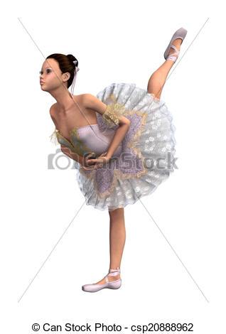Drawn ballerina ballet arabesque Female Dancer Arabesque of Dancer