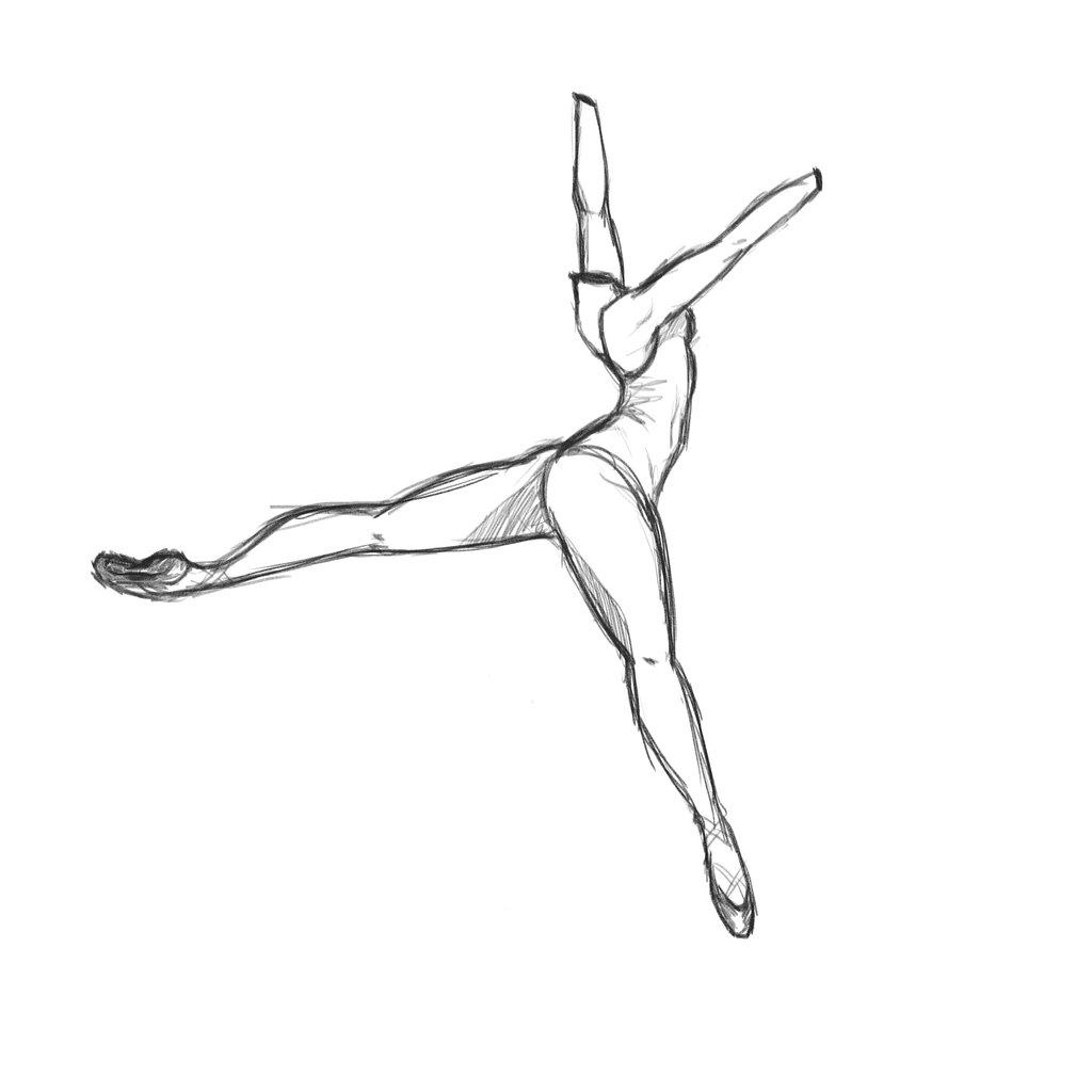 Drawn ballerina ballet arabesque Headless Arabesque an on doing
