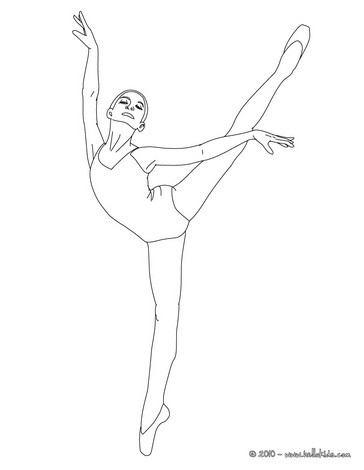 Drawn ballerina ballet arabesque Ballerina Hellokids arabesque arabesque an