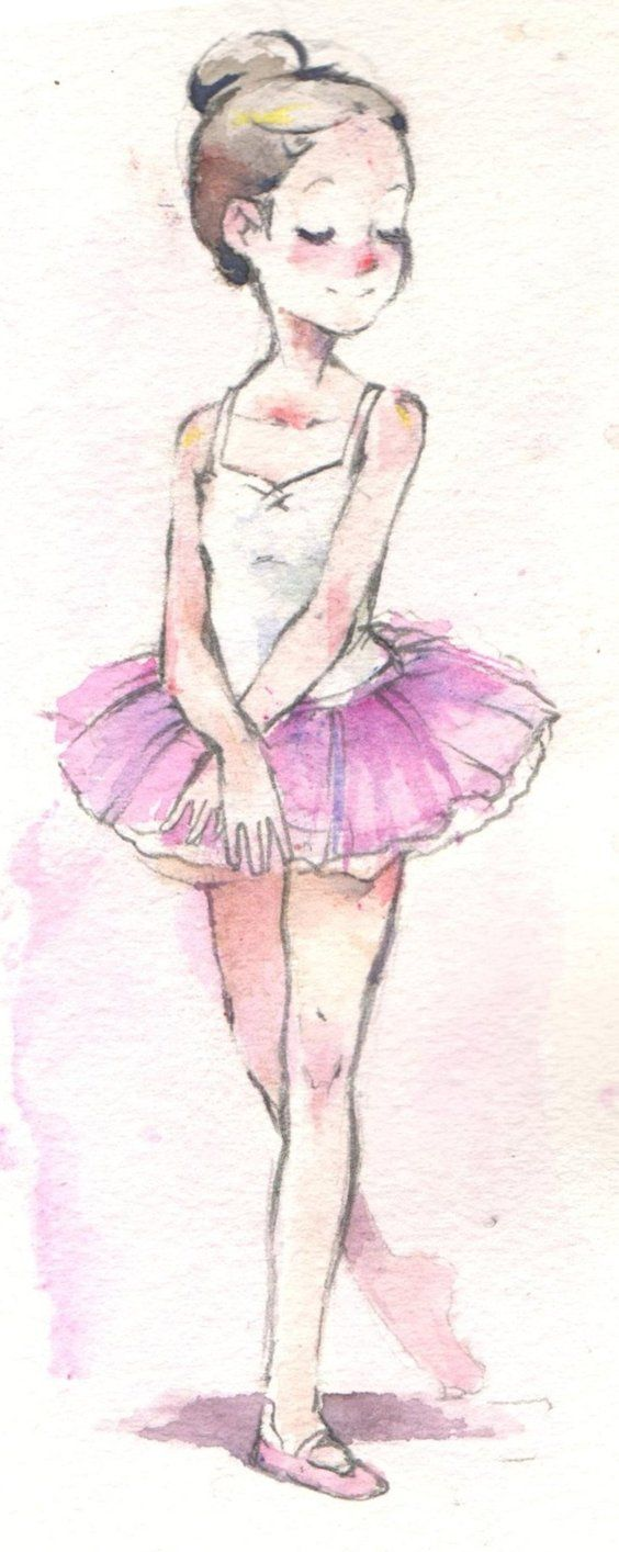 Drawn ballerina fashion illustration #14