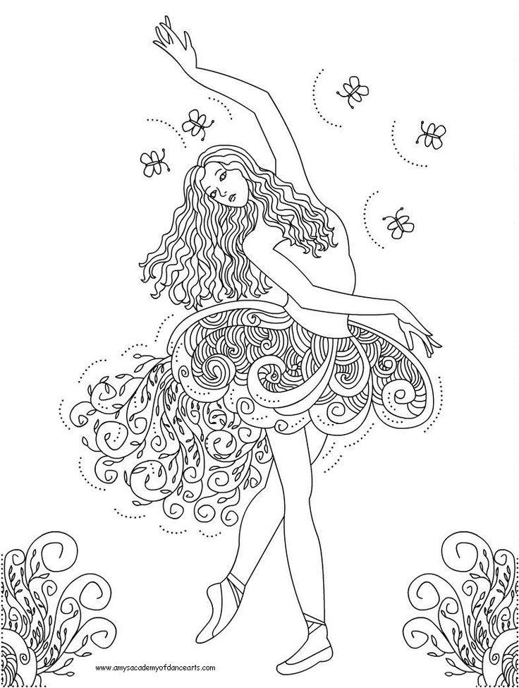 Drawn ballerine color Best images Pinterest Ballerina 13