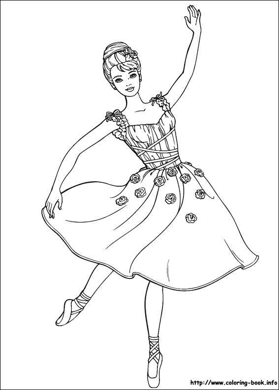Drawn ballerine coloring book Good Sheets good  com