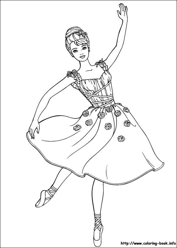 Drawn ballerine coloring book #5