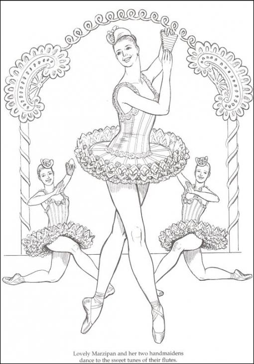 Drawn ballerine coloring book #1