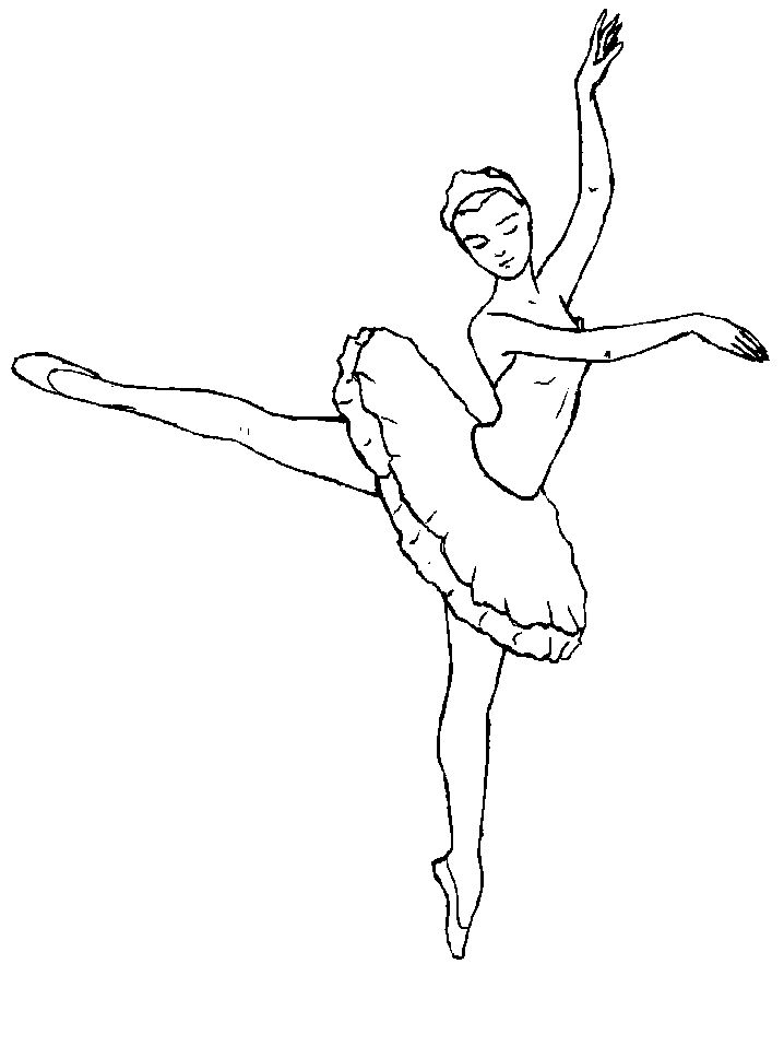 Drawn ballerine coloring book On Ballet/Dance Colour pages 63