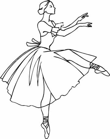 Drawn ballerine coloring book #8