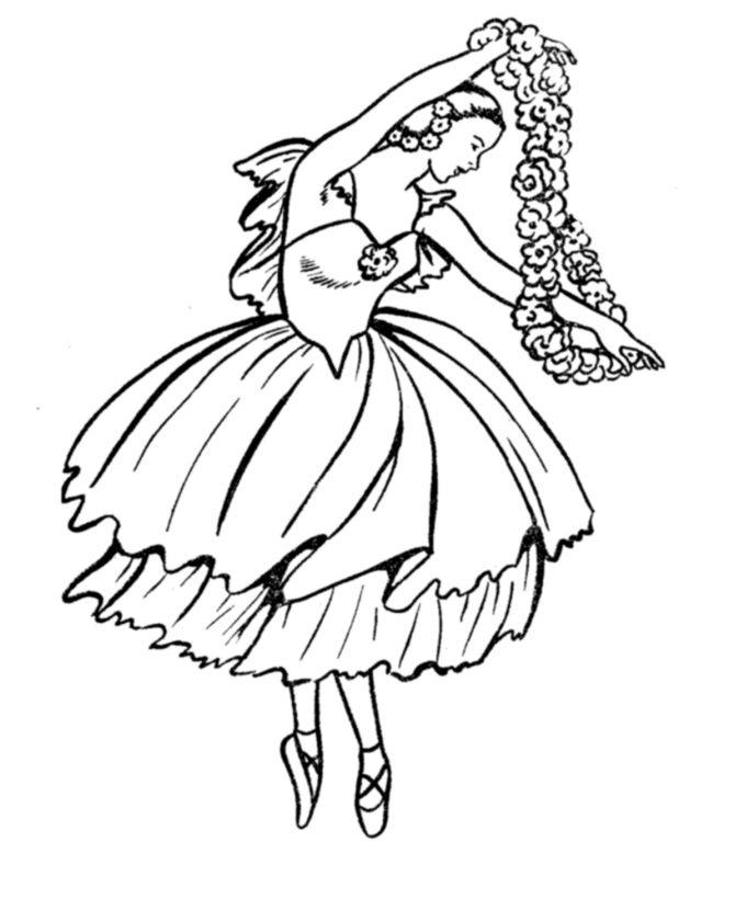 Drawn ballerine coloring book #13
