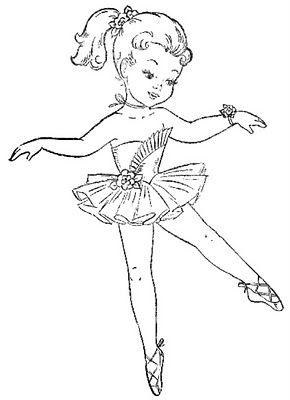 Drawn ballerine coloring book #15