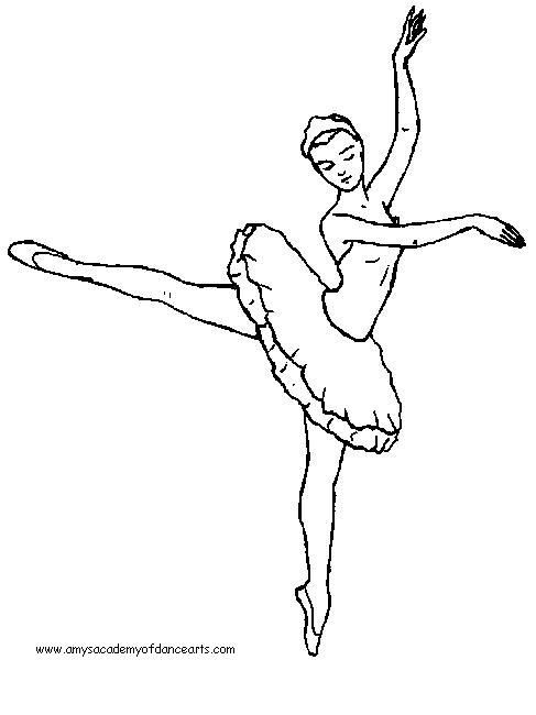 Drawn ballerine coloring page 107 Coloring Ballet on best
