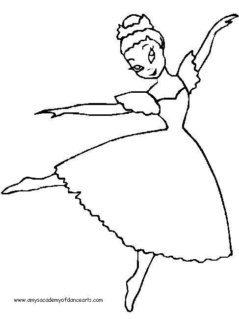 Drawn ballerine coloring page Coloring themes Free pages pages