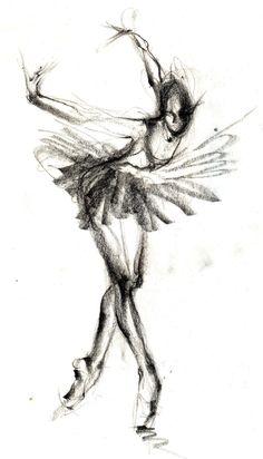 Drawn ballerine creepy For / To drawing ballerina