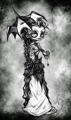 Drawn ballerine creepy @deviantART a drawings Lithium for