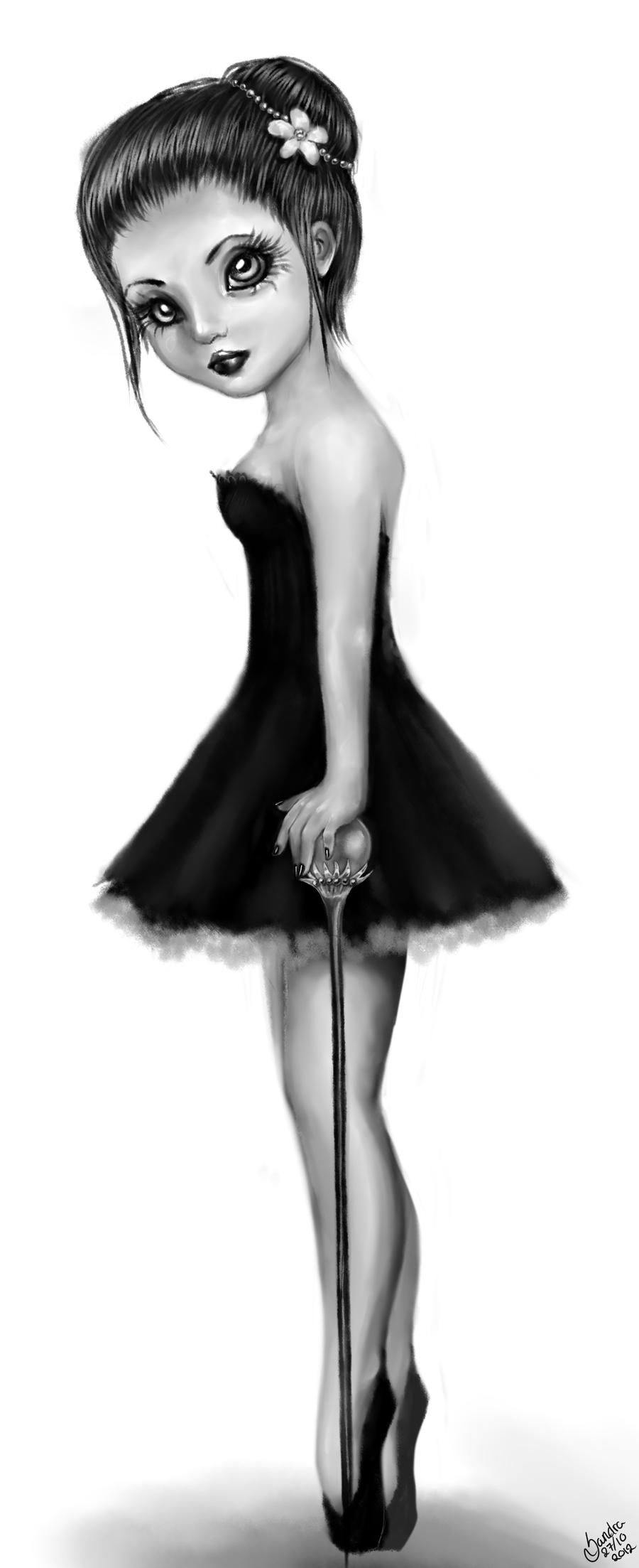 Drawn ballerine creepy Creepy 71125 Doll Drawing Drawing