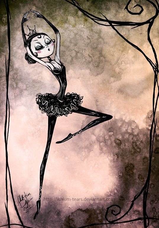 Drawn ballerine creepy Art Penelope deviantART Princess Pinterest