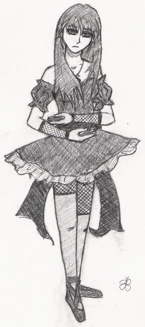 Drawn ballerine creepy I drawing was Portal don't