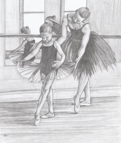 Drawn ballerina dance studio Child DANCE 5678 Ballet Girl
