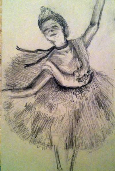 Drawn ballerina degas And degas pencil ballerina