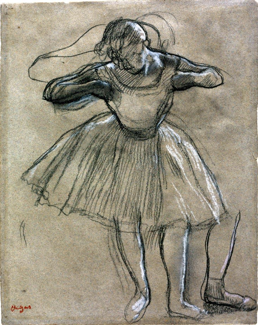 Drawn ballerina degas 1917 Germain Degas Dancer