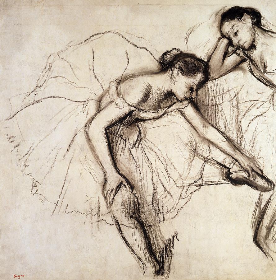 Drawn ballerina degas Ballerina Resting Edgar Fine Art