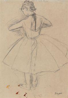 Drawn ballerina degas VUE (1834 DANSEUSE DOS Edgar