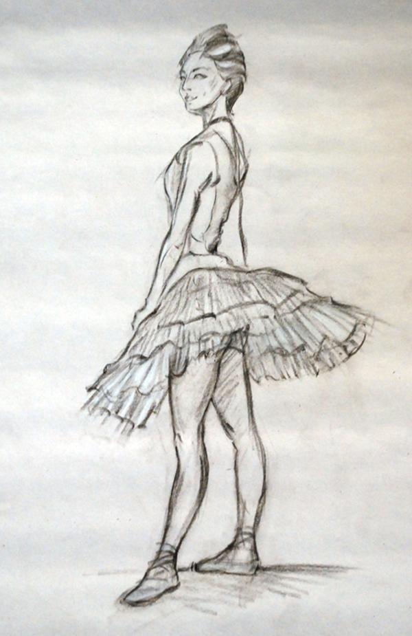 Drawn ballerina degas Drawing photo artwork Schelberg Degas