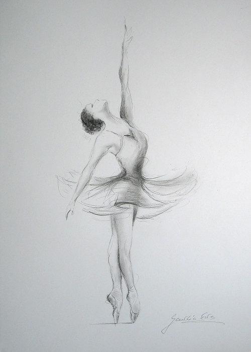 Drawn ballerine face WHITE drawing 12 BALLERINA Ewa
