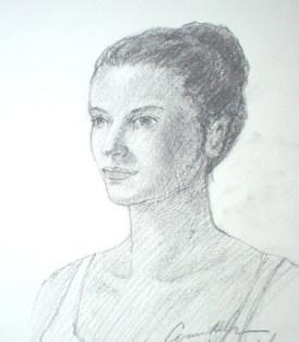 Drawn ballerine face Pencil a pencil Drawing face