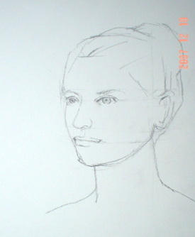 Drawn ballerine face Face Pencil  Drawing a