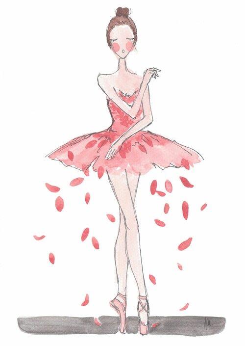 Drawn ballerina fashion illustration #1