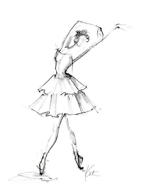 Drawn ballerina fashion illustration #2