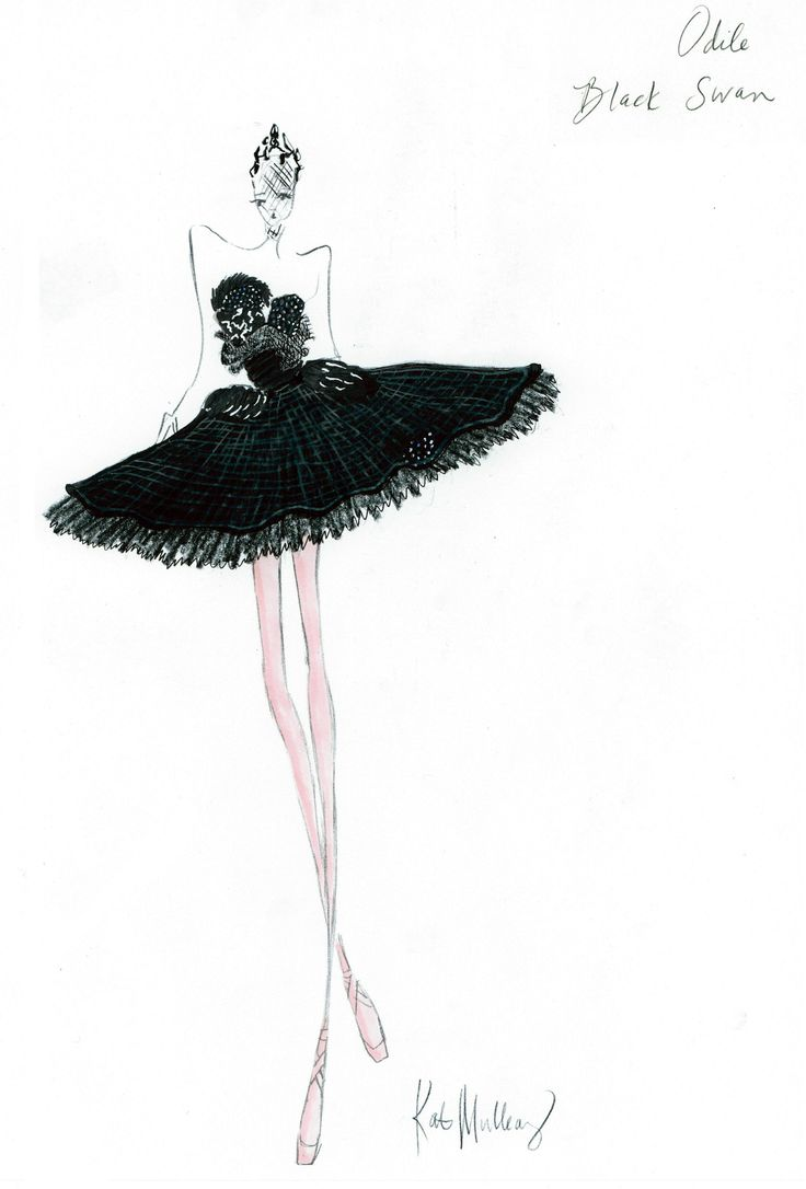 Drawn ballerina fashion illustration #5