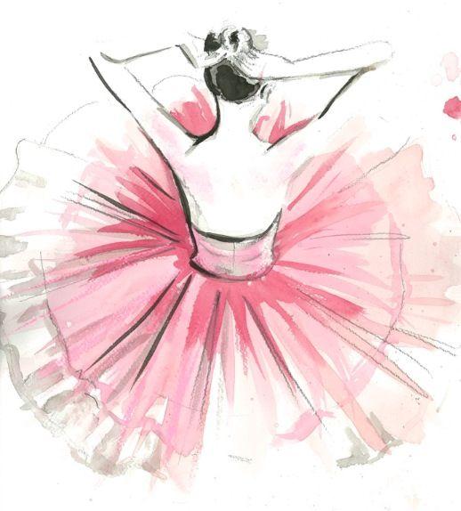 Drawn ballerina fashion illustration #8