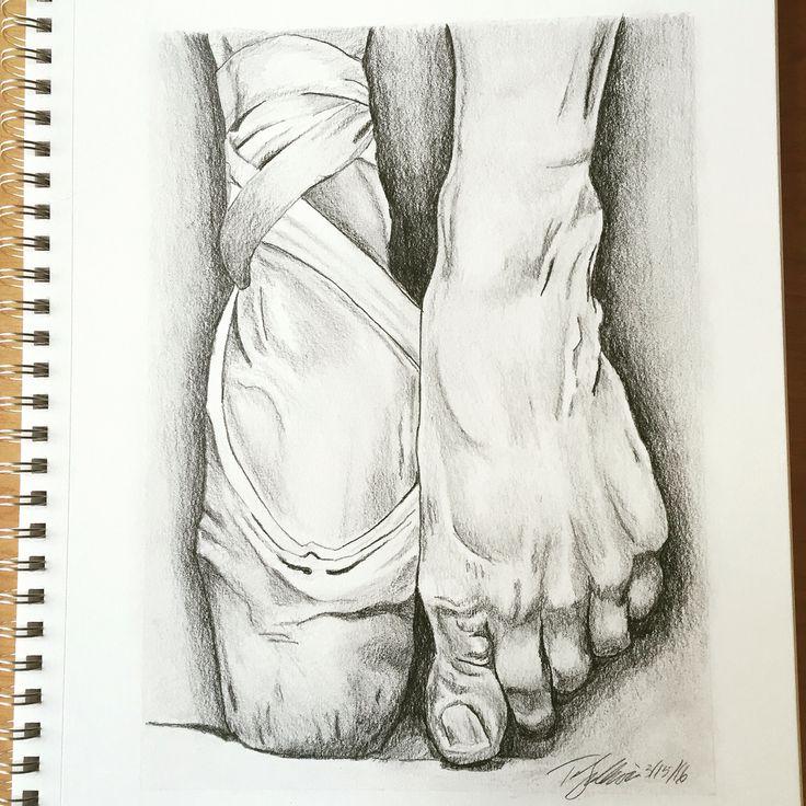 Drawn ballerine feet On #feet Pinterest #dancer #ballet