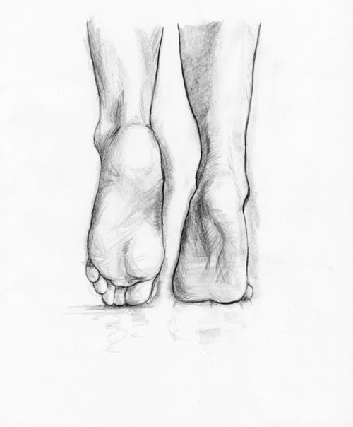 Drawn ballerine feet Feet a cool Negative sketch