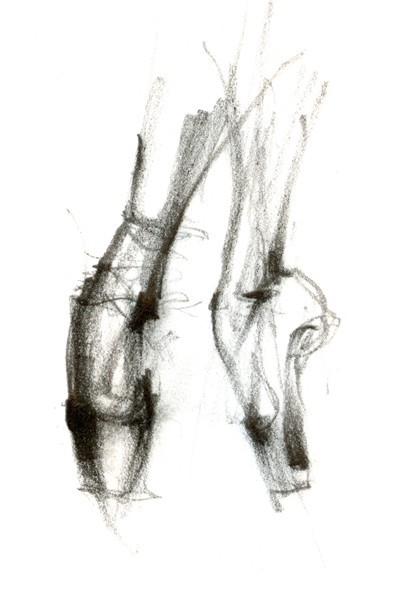 Drawn ballerine feet Art Pointe Wall Pointe illustrations