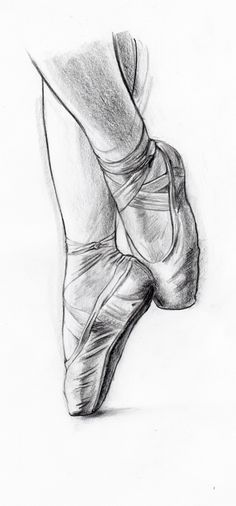 Drawn ballerine feet Illustration the of you look