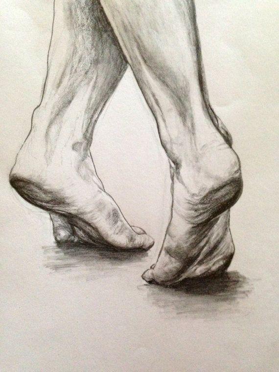 Drawn ballerine feet Space Dancing Feet Negative