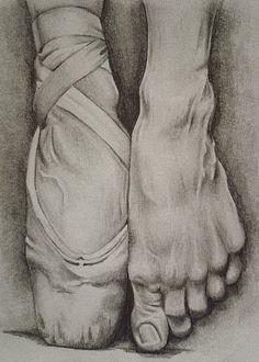 Drawn ballerine feet Space Dancing Feet Negative Feet