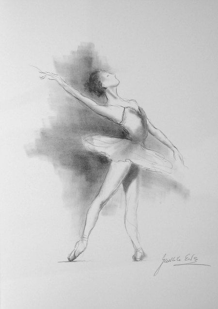 Drawn ballerine female dancer #2