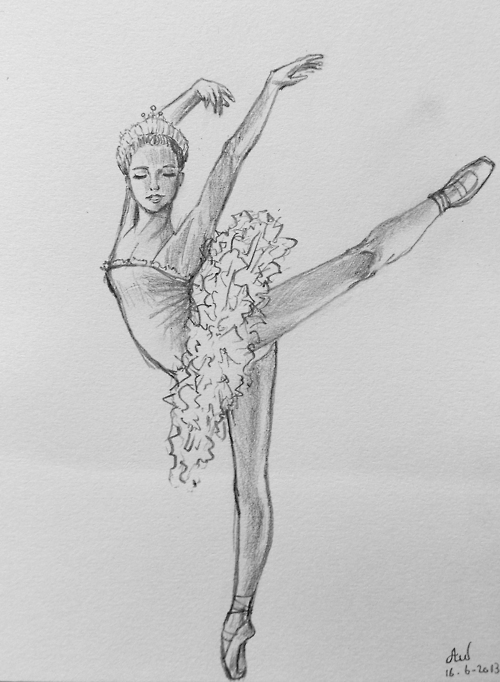 Drawn ballerine female dancer #10