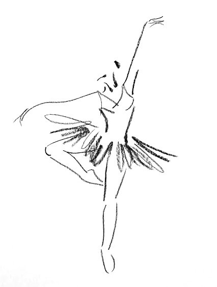 Drawn ballerine female dancer #8
