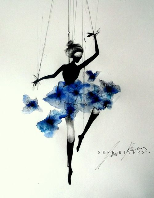Drawn ballerine female dancer #4