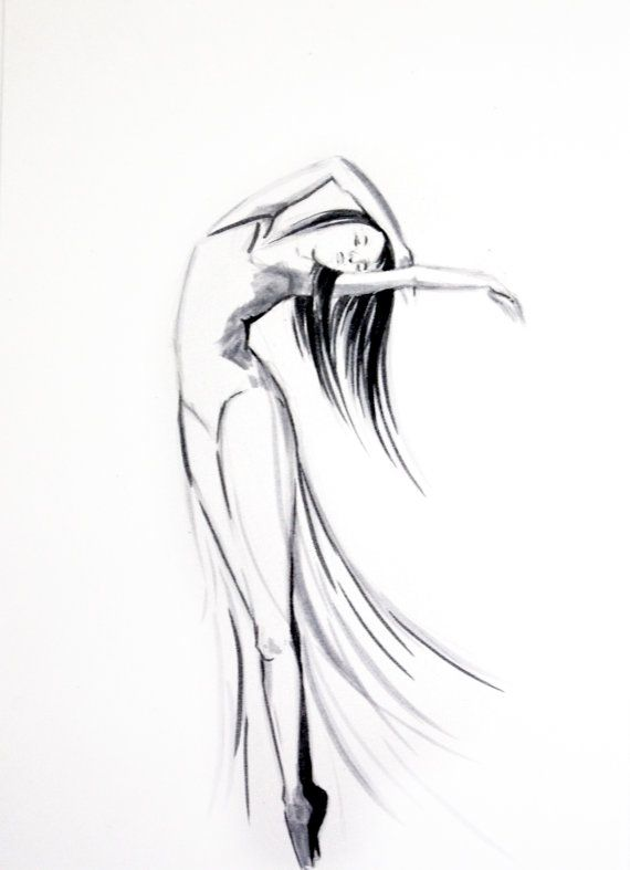 Drawn ballerine female dancer #5