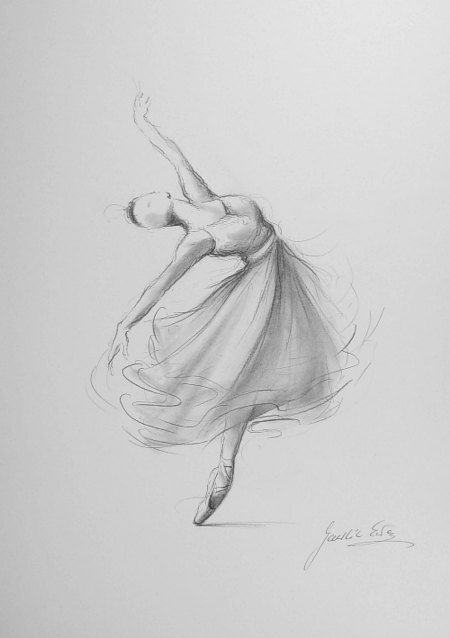 Drawn ballerine female dancer #9