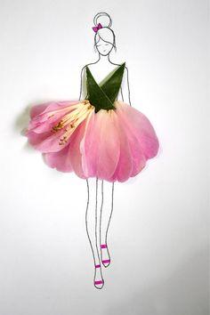 Drawn ballerine flower Beautiful Instagram These Flower Fashionable
