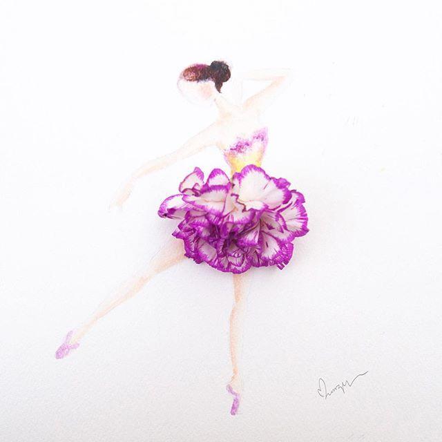 Drawn ballerine flower On ballet be Pinterest carnation