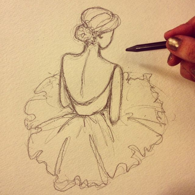 Drawn ballerine flower Talented! ballerina drawing a This