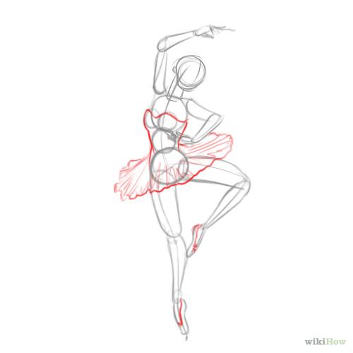 Drawn ballerine full body & #pose Dance Images #figure