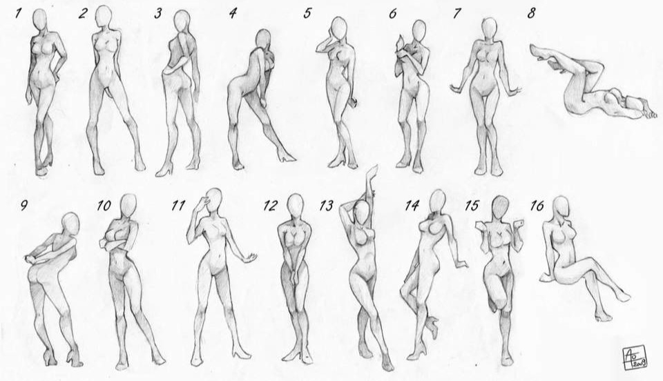 Drawn ballerine full body Female a Draw to Body