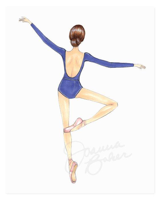 Drawn ballerine full body The Print art Ballerina Ballerina